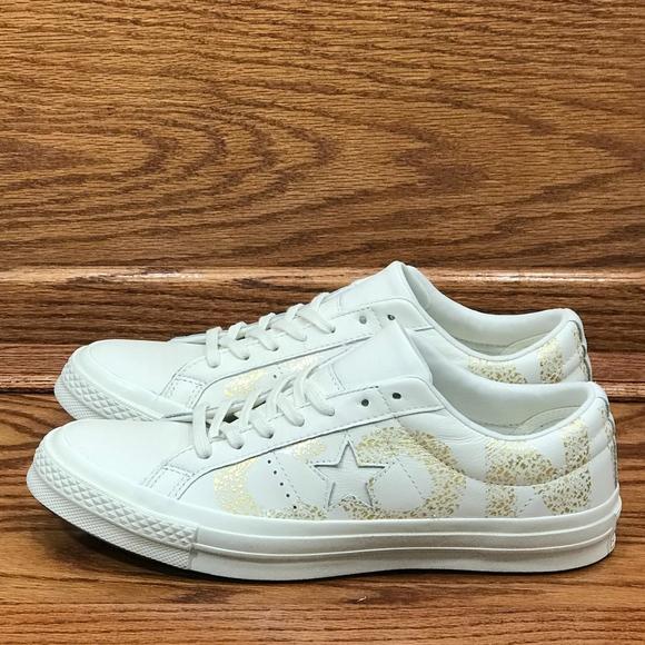 81e4c4ff26eca1 Converse One Star Ox Egret Gold Shoes